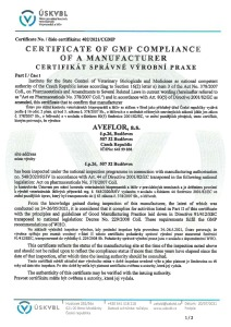 GMP Certificate 2015 (veterinary medicinal products) CZ_ENG_Page_1