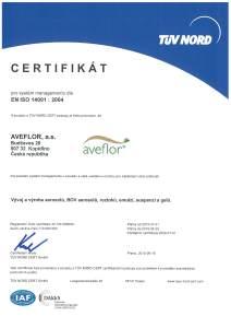 Certificate 14001 2015 CZ