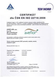 Certificate 22716 2015 CZ